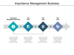 Importance Management Business Ppt Powerpoint Presentation Pictures Designs Download Cpb