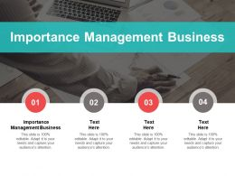 Importance Management Business Ppt Powerpoint Presentation Summary Gallery Cpb