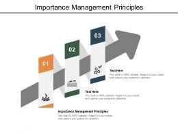 Importance Management Principles Ppt Powerpoint Presentation Ideas Cpb