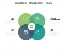 Importance Management Theory Ppt Powerpoint Presentation Visual Aids Styles Cpb