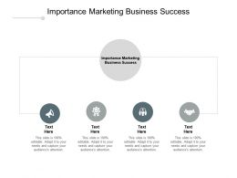 Importance Marketing Business Success Ppt Powerpoint Presentation Model Show Cpb