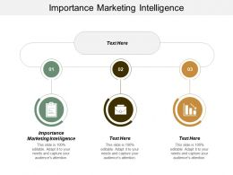 Importance Marketing Intelligence Ppt Powerpoint Presentation Professional Guide Cpb