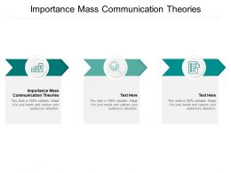Importance Mass Communication Theories Ppt Powerpoint Presentation File Infographic Template Cpb