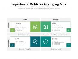 Importance Matrix For Managing Task