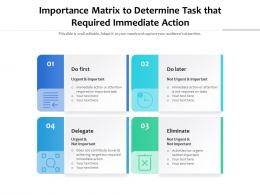 Importance Matrix To Determine Task That Required Immediate Action