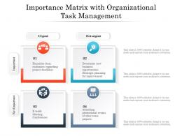 Importance Matrix With Organizational Task Management