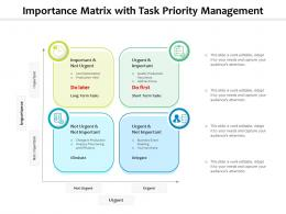 Importance Matrix With Task Priority Management