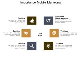 Importance Mobile Marketing Ppt Powerpoint Presentation Gallery Slide Cpb