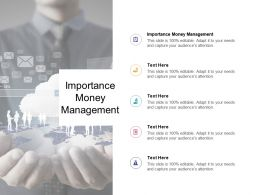 Importance Money Management Ppt Powerpoint Presentation Pictures Tutorials Cpb