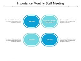 Importance Monthly Staff Meeting Ppt Powerpoint Presentation Outline Icons Cpb