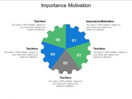 Importance Motivation Ppt Powerpoint Presentation Pictures Styles Cpb