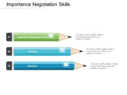 Importance Negotiation Skills Ppt Powerpoint Presentation Gallery Shapes Cpb