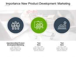 Importance New Product Development Marketing Ppt Powerpoint Ideas Cpb
