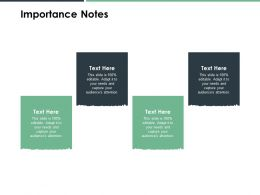Importance Notes Attention B151 Ppt Powerpoint Presentation File Files