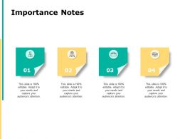 Importance Notes Gears Ppt Powerpoint Presentation Pictures