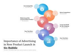 Importance Of Advertising In New Product Launch In Six Bubble