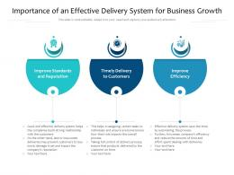 Importance Of An Effective Delivery System For Business Growth