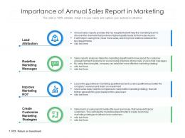 Importance Of Annual Sales Report In Marketing