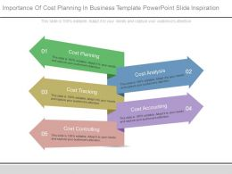 Importance Of Cost Planning In Business Template Powerpoint Slide Inspiration