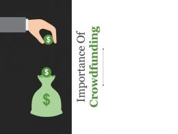 Importance Of Crowdfunding Powerpoint Slide Background Picture