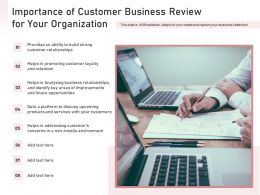 Importance Of Customer Business Review For Your Organization