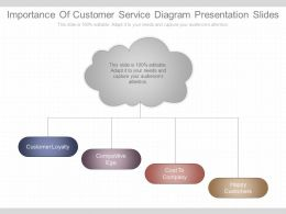 Importance Of Customer Service Diagram Presentation Slides