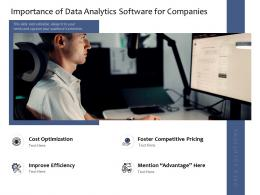 Importance Of Data Analytics Software For Companies