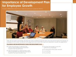 Importance Of Development Plan For Employee Growth