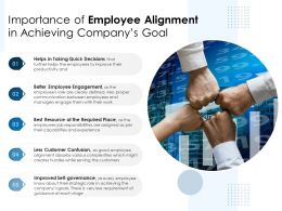 Importance Of Employee Alignment In Achieving Companys Goal