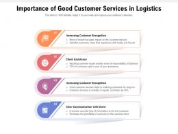 Importance Of Good Customer Services In Logistics
