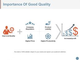 Importance Of Good Quality Ppt Images