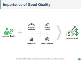 Importance Of Good Quality Presentation Graphics