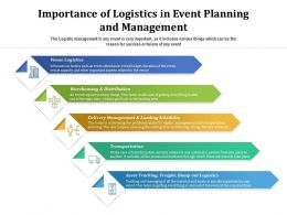 Importance Of Logistics In Event Planning And Management
