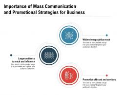 Importance Of Mass Communication And Promotional Strategies For Business