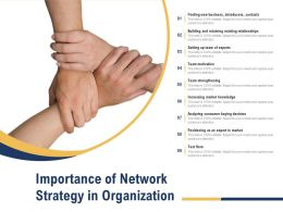 Importance Of Network Strategy In Organization