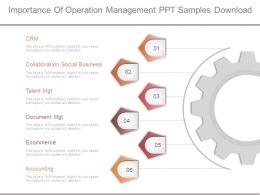 Importance Of Operation Management Ppt Samples Download