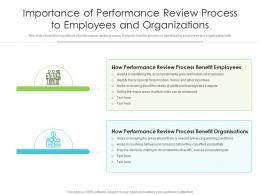 Importance Of Performance Review Process To Employees And Organizations