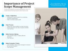 Importance Of Project Scope Management