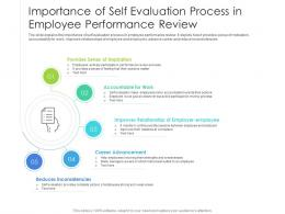 Importance Of Self Evaluation Process In Employee Performance Review
