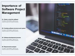 Importance Of Software Project Management
