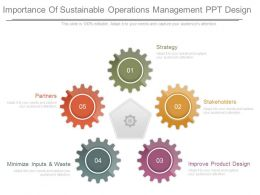 Importance Of Sustainable Operations Management Ppt Design