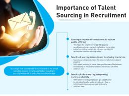 Importance Of Talent Sourcing In Recruitment