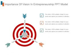 Importance Of Vision In Entrepreneurship Ppt Model