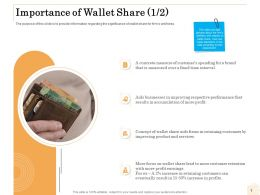 Importance Of Wallet Share R716 Ppt Powerpoint Presentation Model Ideas