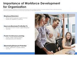 Importance Of Workforce Development For Organization