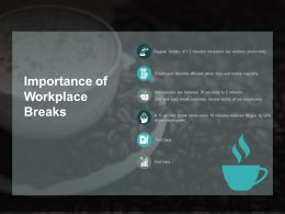 Importance Of Workplace Breaks Ppt Powerpoint Presentation Clipart