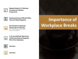 Importance Of Workplace Breaks Ppt Slides Slideshow