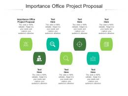 Importance Office Project Proposal Ppt Powerpoint Presentation Styles Master Slide Cpb