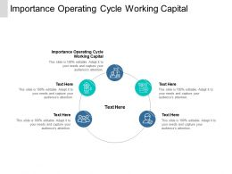 Importance Operating Cycle Working Capital Ppt Powerpoint Presentation Layouts Icons Cpb