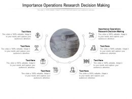 Importance Operations Research Decision Making Ppt Powerpoint Presentation Outline Examples Cpb